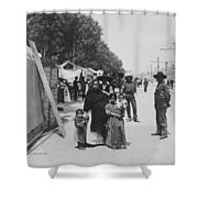 Mexico City - Alameda During Holy Week - C 1906 Shower Curtain by International  Images
