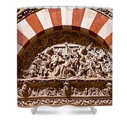 Mezquita Cathedral Religious Carving Shower Curtain by Artur Bogacki