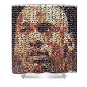 Michael Jordan Card Mosaic 3 Shower Curtain by Paul Van Scott