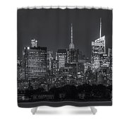 Mid-town Manhattan Twilight II Shower Curtain by Clarence Holmes
