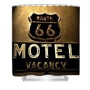 Midnight On 66 Shower Curtain by David Lee Thompson
