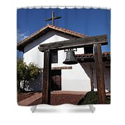 Mission Francisco Solano - Downtown Sonoma California - 5D19301 Shower Curtain by Wingsdomain Art and Photography