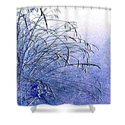 Misty Blue Shower Curtain by Will Borden