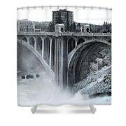 Monroe St Bridge 2 - Spokane Washington Shower Curtain by Daniel Hagerman