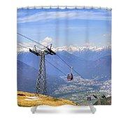 Monte Tamaro - Switzerland Shower Curtain by Joana Kruse