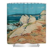 Monterey Coast Shower Curtain by Guy Rose