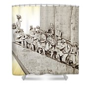 Monument To Discoveries Shower Curtain by Carlos Caetano
