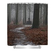 Monument To The Resistance Shower Curtain by Anonymous