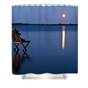 Moon Boots Shower Curtain by Gert Lavsen