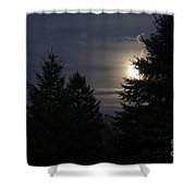 Moon Rising 01 Shower Curtain by Thomas Woolworth