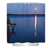 Moon View Shower Curtain by Gert Lavsen