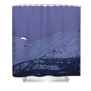 Moonset Shower Curtain by Yuichi Takasaka