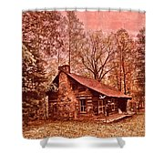 Moonshine Shower Curtain by Debra and Dave Vanderlaan