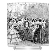 Mormon Ball, 1857 Shower Curtain by Granger