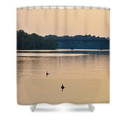 Morning Along The Schuylkill River Shower Curtain by Bill Cannon