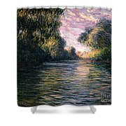 Morning On The Seine Shower Curtain by Claude Monet