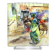 Morrocan Market 04 Shower Curtain by Miki De Goodaboom