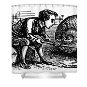 Mother Goose: Snail Shower Curtain by Granger