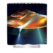Mothership Shower Curtain by Kim Sy Ok