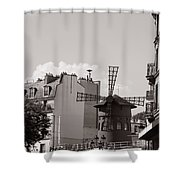 Moulin Rouge Shower Curtain by Andrew Fare