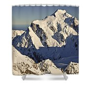 Mount Tutoko At Dawn Hollyford Valley Shower Curtain by Colin Monteath