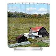 Mountain Farm Shower Curtain by John Turner