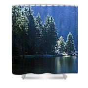 Mountain Lake In Arbersee, Germany Shower Curtain by John Doornkamp