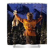 Mountain Man 1 Shower Curtain by Bob Christopher