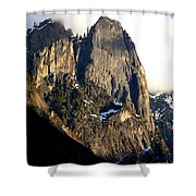 Mountains Of Yosemite . 7d6167 . Vertical Cut Shower Curtain by Wingsdomain Art and Photography