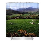 Mourne Mountains From Trassey Road, Co Shower Curtain by The Irish Image Collection