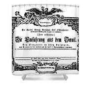 MOZART: SERAGLIO, 1782 Shower Curtain by Granger