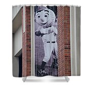 Mr Met Shower Curtain by Rob Hans