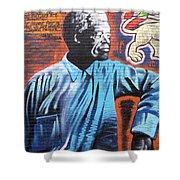 Mr. Nelson Mandela Shower Curtain by Juergen Weiss
