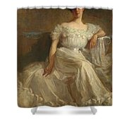 Mrs. Leslie Thayer Green Shower Curtain by John Willard Clawson