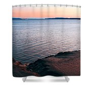 Mud Blushing Shower Curtain by Ron Day