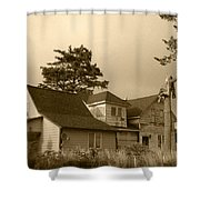 Munsters Or Adams Family Shower Curtain by Kym Backland