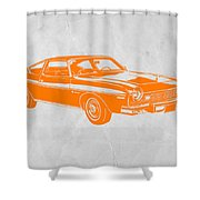 Muscle Car Shower Curtain by Naxart Studio