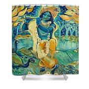 My Krishna Is Blue Shower Curtain by Ashleigh Dyan Bayer