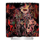 Mystery Shower Curtain by Natalie Holland