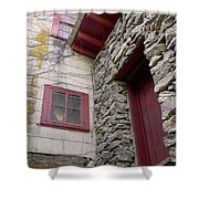 Mystery Of The Red Door Shower Curtain by Sandi OReilly