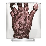Mythological Hand Shower Curtain by Photo Researchers