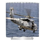 N Hh-60h Sea Hawk Helicopter In Flight Shower Curtain by Stocktrek Images