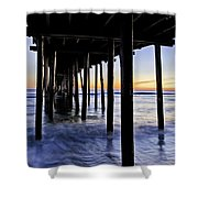 Nags Head Pier - A Different View Shower Curtain by Rob Travis
