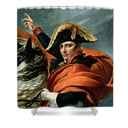 Napoleon Crossing The Alps On 20th May 1800 Shower Curtain by Jacques Louis David