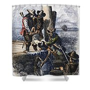 Native American Slave Shower Curtain by Granger