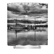 Navy Lookout Shower Curtain by Douglas Barnard