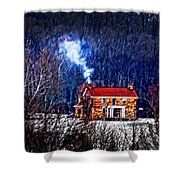 Nestled In For The Winter Shower Curtain by Randall Branham
