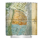 New England To Virginia, 1651 Shower Curtain by Photo Researchers
