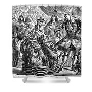 New Years Eve Ball, 1866 Shower Curtain by Granger