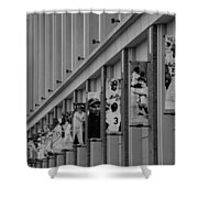 NEW YORK METS of OLD  in BLACK AND WHITE Shower Curtain by ROB HANS